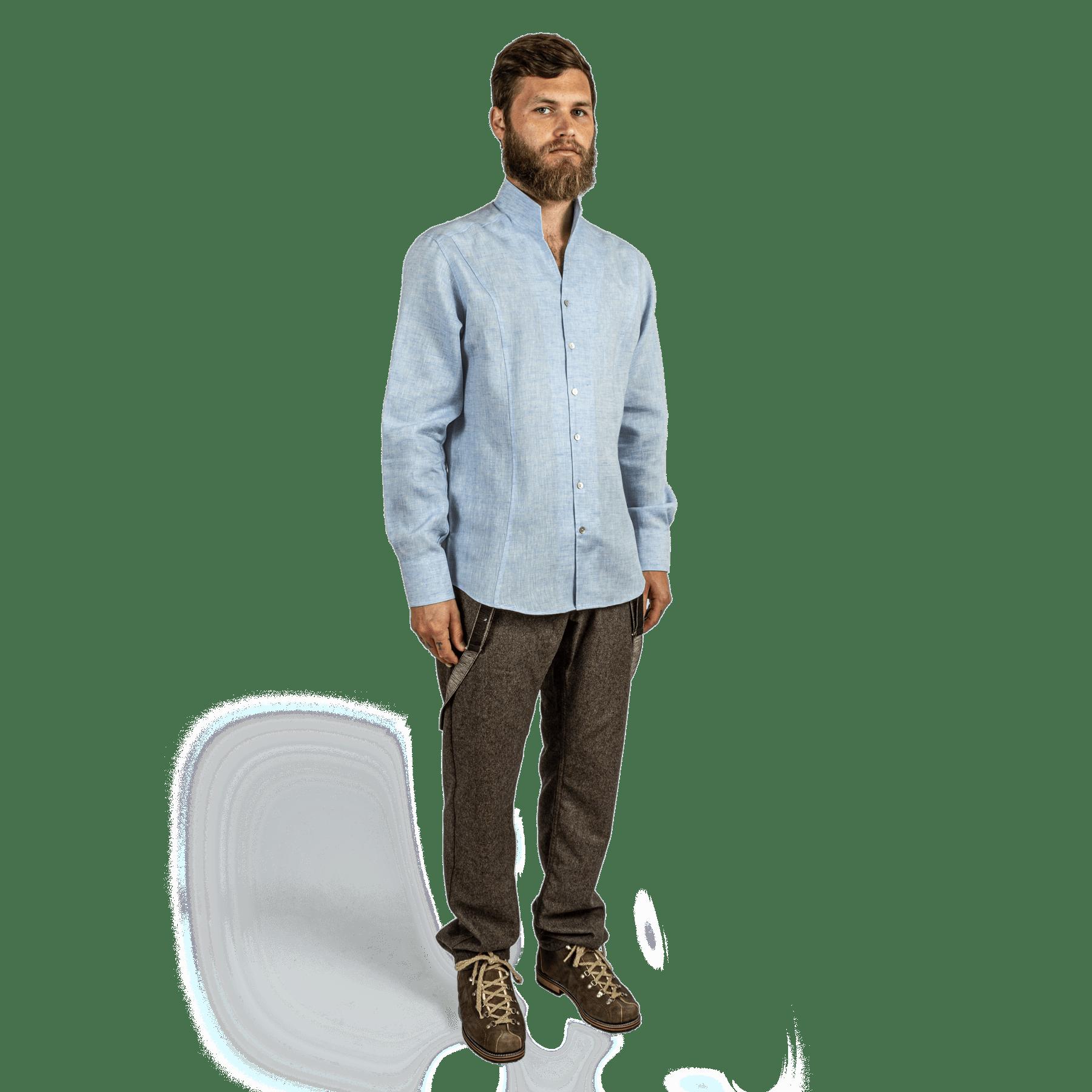 Strizi-Leinenhemd-blau-Look