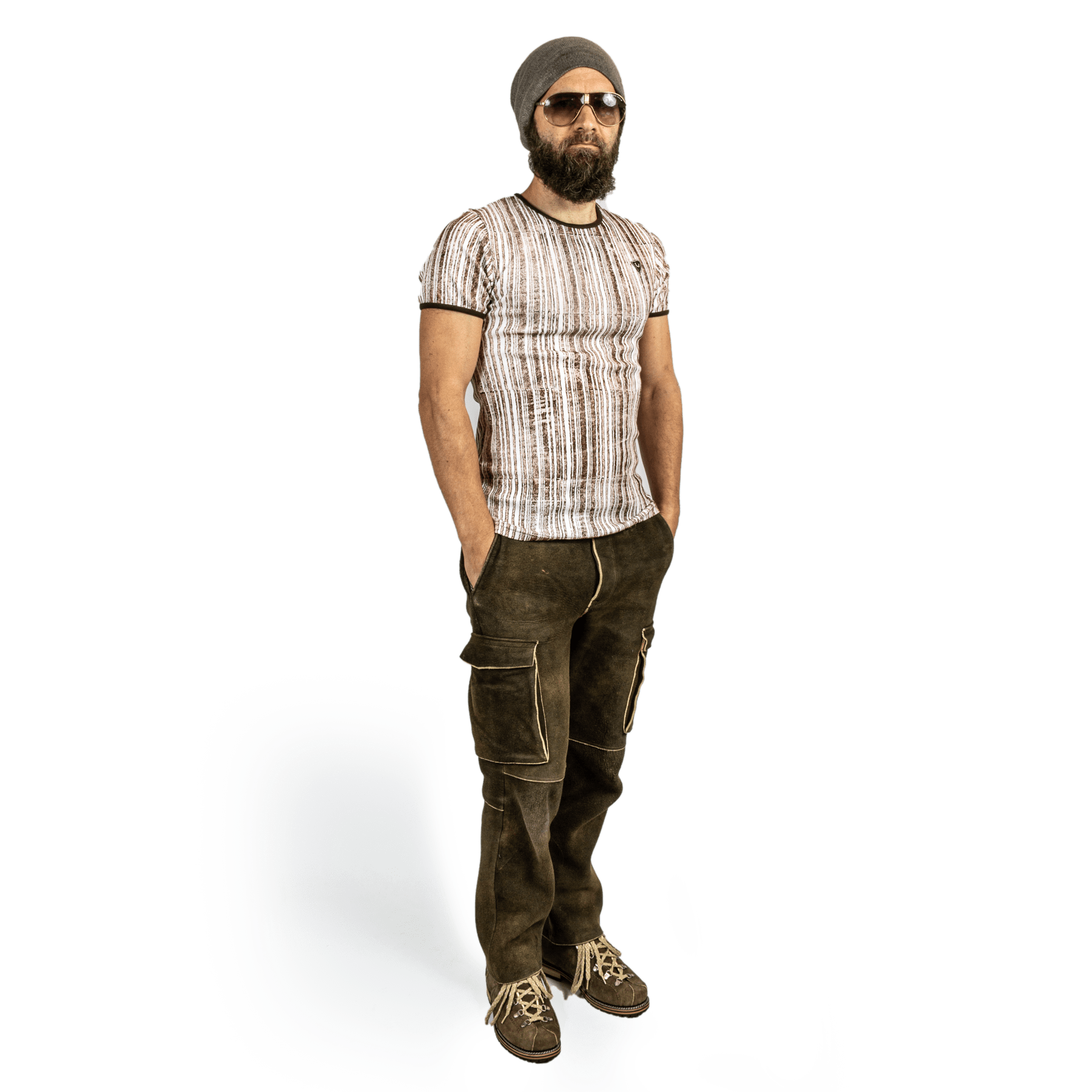 Strizi Holzmodl Shirt Streifen 2 Strizi