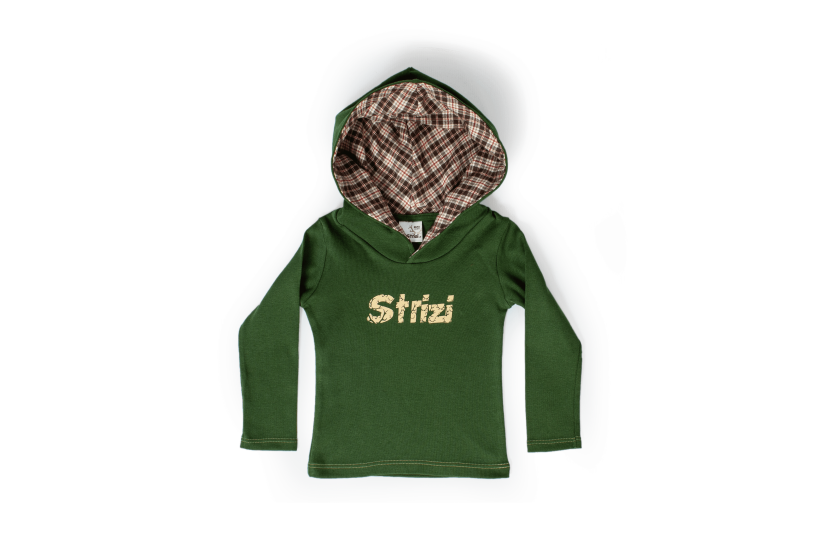 Kinder-Kapuzenshirt grün