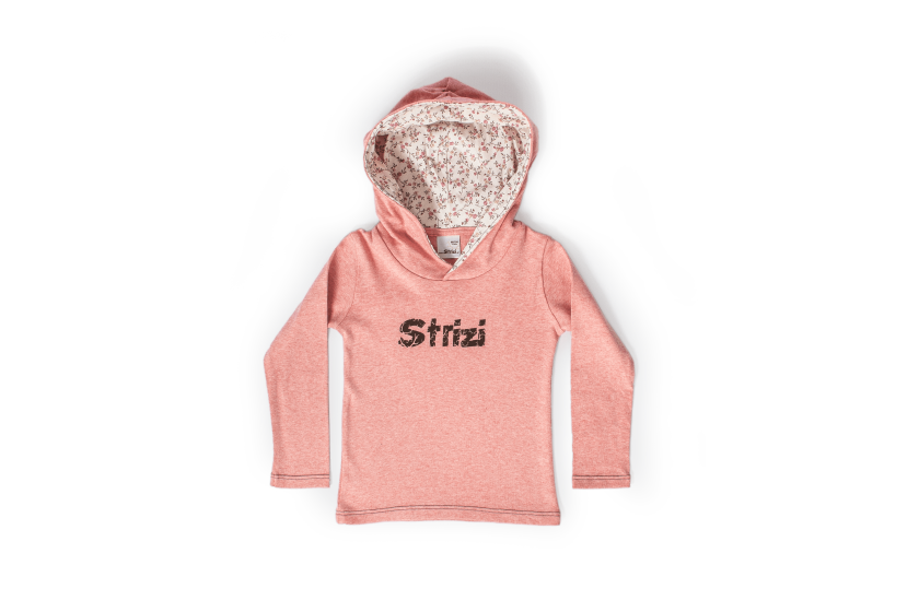 Kinder-Kapuzenshirt rosa