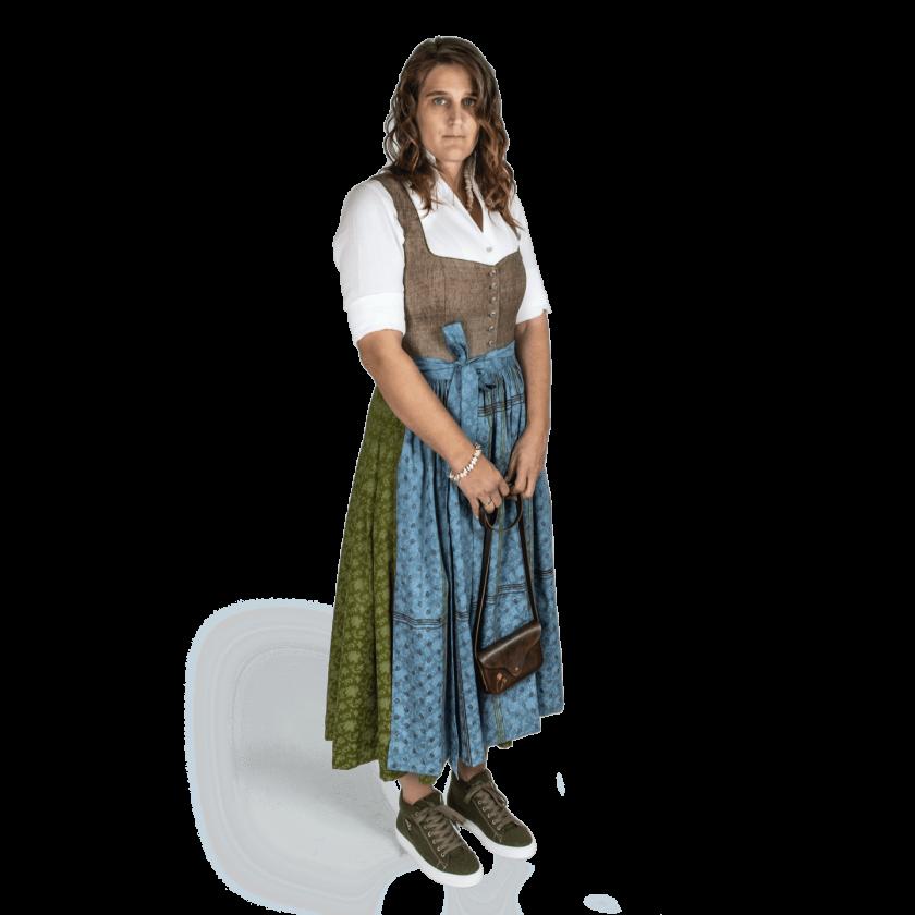 Strizi-Damen-Dirndl-braun-grünHolzmodl-Gr42-1