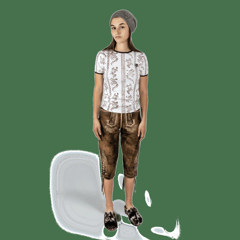 Strizi Damen Holzmodl Shirt Kniebund Lederhose Strizi