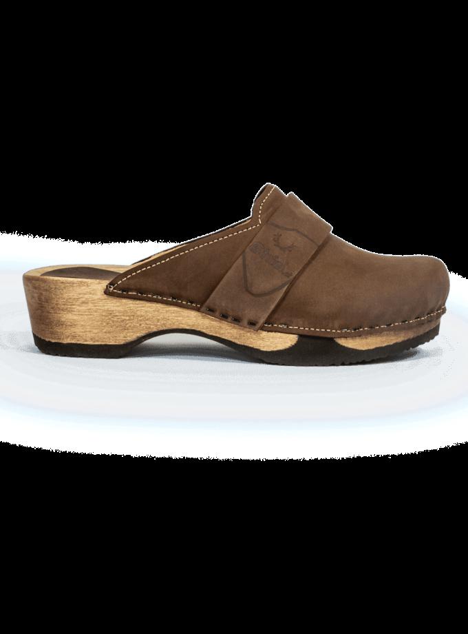 Strizi-Schuhe-Holzschuhe fell+nubuk-verbunden-glatt