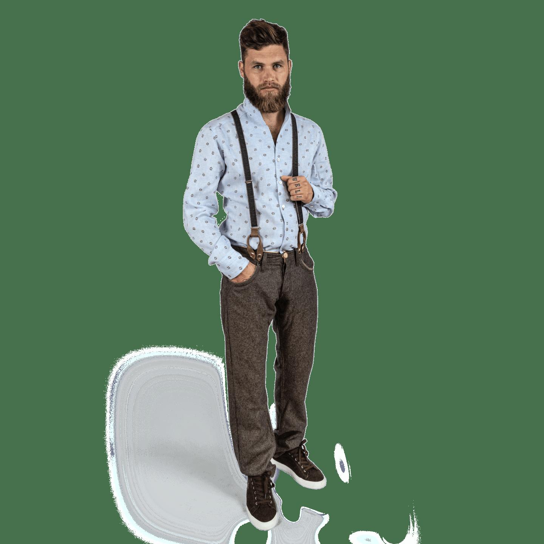 Strizi-Herren-Hosenträger-Look