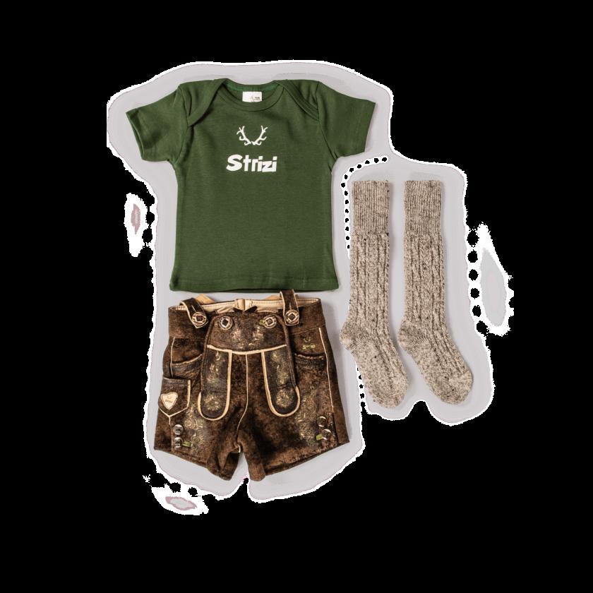 Strizi Kinder Geschenk Shirt lederhose socken Strizi
