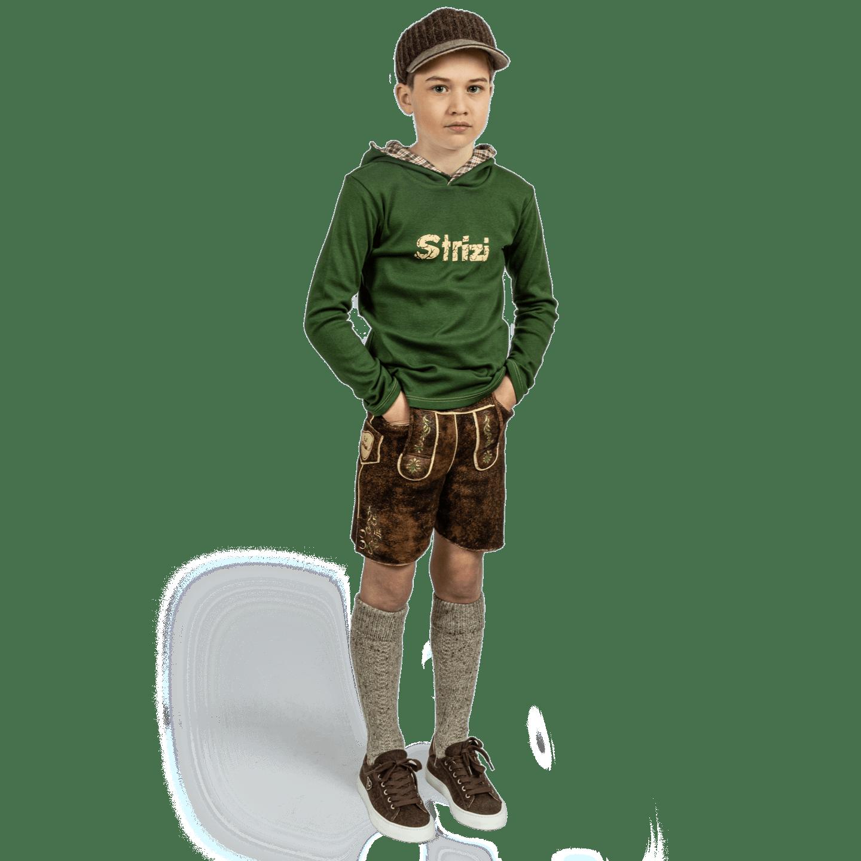 Strizi-Moritz-Look-Kapuzenshirt